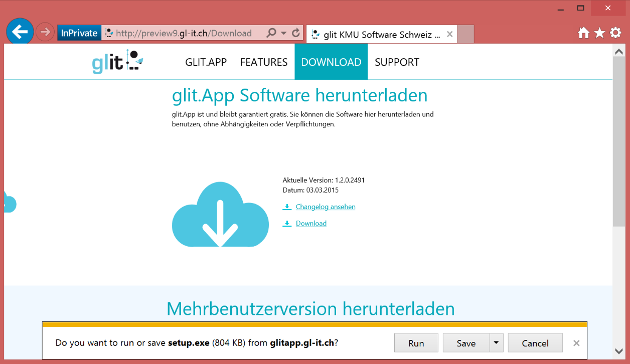 glit.App CRM Software für KMU Download im Browser